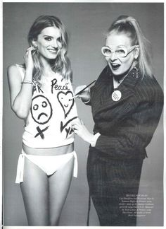 Vivienne Westwood and Lily Donaldson feature in Harper's Bazaar in support of rainforest charity, Cool Earth