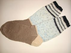 Hand Knitted Men Socks Colorful  Wool Socks by Billeshop on Etsy, $22.00