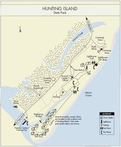 Hunting Island SC Campground Map | Hunting Island State Park Map • mappery