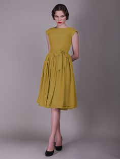 Dresses In Mustard Color