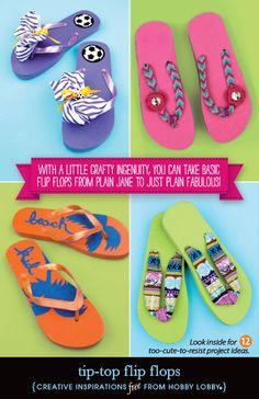 Get ready for fun in the sun this spring break by decorating your flip flops!