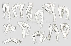 Life study: Jeans by Spectrum-VII.deviantart.com on @DeviantArt