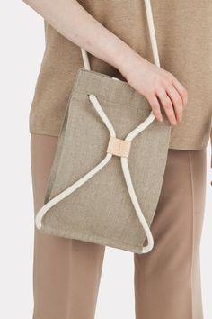 Pocket Bag Small Raw Natural