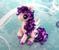 Purple and Pearl Valentine Pegasus by DragonsAndBeasties on Etsy