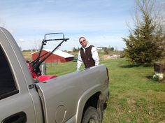 Just finished tilling a new plot and he is still smiling? Amazing guy.
