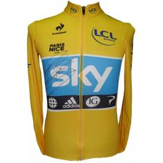 On eBay with 1 day to go - Sir Bradley Wiggins' 2012 Paris-Nice yellow jersey! Link in profile #lepuncheur #wiggo #autographed #teamsky #bidup
