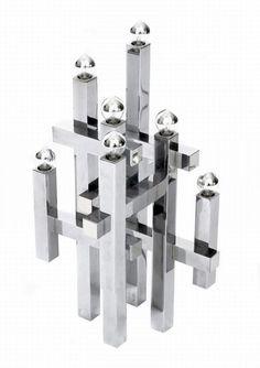 Gaetano Sciolari, a geometric eight light table lamp