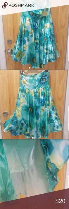 Charlotte Russe green floral strapless dress Item: green floral strapless dress  Brand: Charlotte Russe  Size: small  Condition:? very good Charlotte Russe  Dresses Strapless