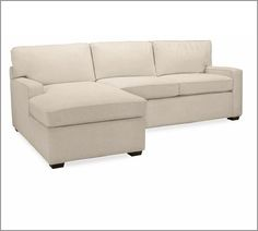 PB Square Upholstered 2-Piece Sectional with Chaise | Pottery Barn