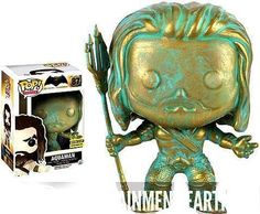 Funko Pop Heroes Batman Vs Superman Aquaman Patina Exclusive Vinyl Figure #87