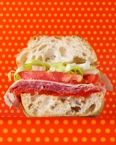 Kids will be thrilled to find these delicious midday meals in their lunch box. You can even make them part of the prep process for a meal that is truly kid-tested and -approved.This sandwich possesses energy beyond that of ordinary lunch favorites thanks to salami, prosciutto, provolone, and an array of fresh tomatoes and roasted red peppers.