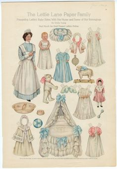 The Lettie Lane Paper Family: Presenting Lettie's Baby Sister with her Nurse | paper doll..1909