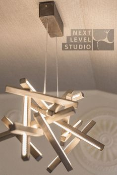 LED Wood Chandelier LED lamp wood lamp by NextLevelStudio