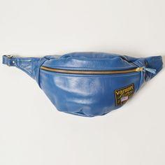 Vanson×US/Flag Tag Leather Fanny-Pack(バンソン×アス ファニーパック)ブルー [n-9392]