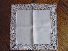 Ravelry: Filetstueck's Handkerchief / hanky with large edging in filet-crochet
