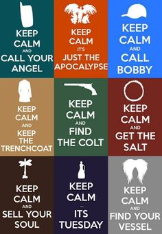 Haha, life instructions of Winchester brothers