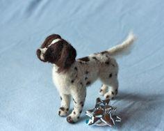 Custom felt pet portrait: Flat/ Long Coated dogs. Long Coated Pointers, Shelties, Collies, Retreivers