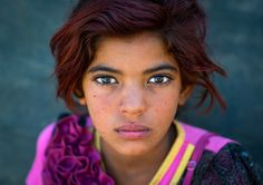 Gypsy girl with red hair in Kerman, Iran | by Eric Lafforgue