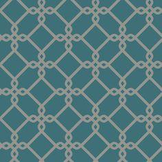 "York Wallcoverings Ashford Geometrics Threaded Links 33' x 20.5"" Geometric Wallpaper & Reviews | Wayfair.ca"