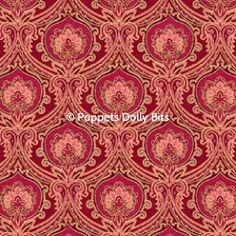 "upstairs downstairs collection doll house wallpaper pinky red 28.4cm x 20.3cms (11""x 8"") perfectly edge matching for joining sheets by PoppetsDollyBits on Etsy https://www.etsy.com/listing/215977436/upstairs-downstairs-collection-doll"