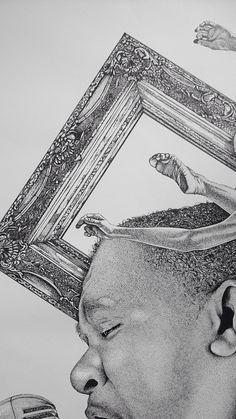 O QUE É ARTE? - Detalhe - Stippling Art / Pontilhismo - 100cm X 70cm