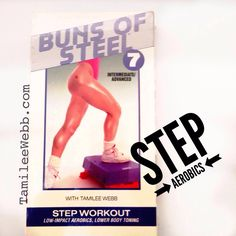 Step workout with Classic Buns of Steel 7 Gin Miller, Step Aerobics, Buns Of Steel, Step Workout, Athletic Women, Thankful, Body Types, Reebok, Fitness