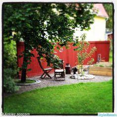 trädgårdsland modell mindre,rött plank,insynsskydd,uteplats,trädgård