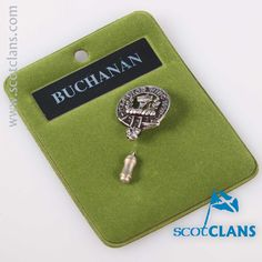 Buchanan Clan Crest Tie Pin. Free worldwide shipping available