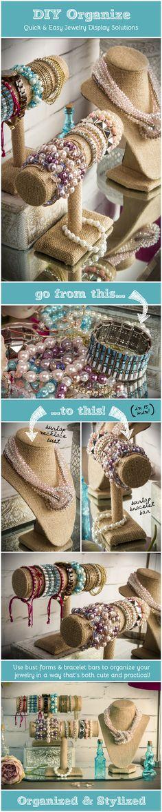 DIY Jewelry Organization Displays & Props
