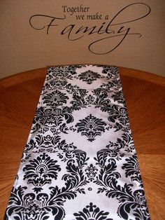 Damask Table Runner in Red Pink Black or Brown by DESIGNERSHINDIGS, $18.00