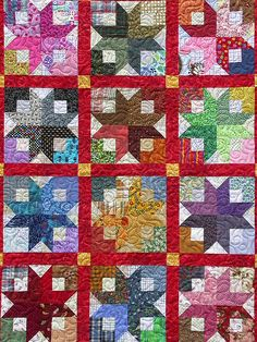 Quilt using Bonnie Hunter's Boxy Star