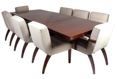 Set of Eight Modern Dining Chairs  7