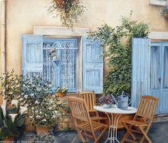 Marie-Claire Houmeau  Devant de porte Peyrolles en Provence