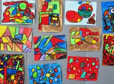 art lessons for kids. Abstract art lesson with 3rd graders