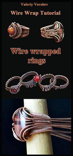Wire Jewelry Patterns, Wire Jewelry Designs, Handmade Jewelry, Jewelry Art, Bead Jewellery, Stone Jewelry, Metal Jewelry, Custom Jewelry, Jewelry Ideas