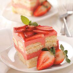 Strawberry Rhubarb Torte Recipe from Taste of Home -- shared by Kathleen Kowski of Trinity, North Carolina