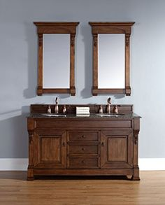 """James Martin Brookfield 60"""" Double Vanity in Country Oak James Martin Furniture http://www.amazon.com/dp/B00V5OU8RU/ref=cm_sw_r_pi_dp_49nWwb0GR53DN"""