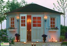 Abri jardin bois Nancy - 5.25 m2 - 3.45 x 2.44 x 2.68 m - 28 mm ...