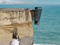 Modular Cliff House Hangs Perilously Over a Cliff's Edge in Australia   Inhabitat - Green Design, Innovation, Architecture, Green Building