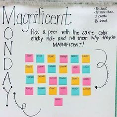 Ready for Monday! Great way for students to interact with other students outside of their circles Future Classroom, School Classroom, School Fun, Middle School, School Stuff, School Ideas, Class Meetings, Morning Meetings, Morning Meeting Greetings