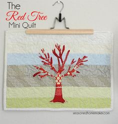 The Red Tree Mini Quilt