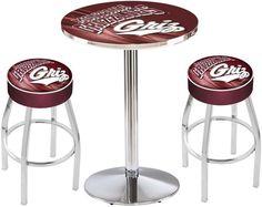 Montana Grizzlies D2 Black Pub Table Set. Available in two table widths.  Visit SportsFansPlus.com for Details.