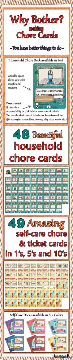 NEATLINGS has you covered! Beautiful household and self-care chore cards. Less than the cost of cardstock, ink & your time. Durable playing card quality. Card size 2.5 x 3.5 inches. Regular price $12.95 per deck. Always FREE 2 day shipping. NEATLINGS - Simply a better chore system! www.neatlings.com