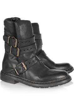 I live in mine.... Burberry leather biker boots