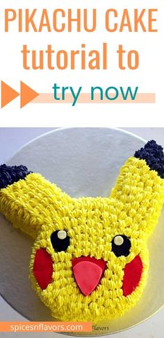 Learn how to make Pikachu Cake in a step by step format with Pikachu Template for easy carving of the cake. This Pikachu Cake tutorial is so simple that even a beginner baker or a home baker or a mum can easily attempt making a cartoon cake for their kids birthday party. Easy Cakes For Kids, Pikachu Cake, Make A Cartoon, Cake Decorating, Decorating Ideas, Elegant Cakes, Cake Tutorial, Fondant, Wedding Cakes
