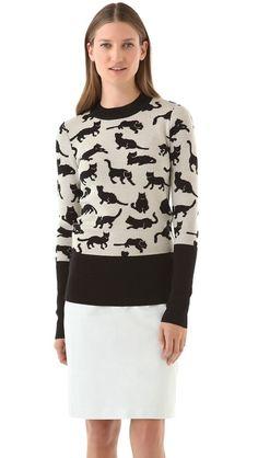 10 Crosby Derek Lam - Kitty Print Sweater