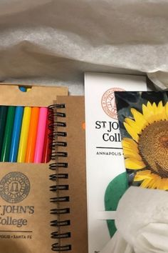 We sent our incoming freshmen a surprise in a box. The box contains seeds, soil pellets, peat pots, plant markers, a mini journal/sketchbook, and some colored pencils. Our goal in sending this box is to invite students to step away from their screens and to observe and engage with plants and flowers for a bit. In other ways this activity is a sneak peak into freshman lab. Invite, Invitations, Plant Markers, Freshman, Colored Pencils, Screens, Pots, Lab, Students