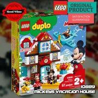 LEGO 10889 Mickeys Vacation House DUPLO Mainan Anak Disney Original #thekingbricks #theking #thekingid #kingbricks #gvonline #uhappyihappy #tokolegoterpercaya #tokomainanoriginal #lego10889 Lego Duplo Sets, Lego City, Lego Star Wars, Vacation, The Originals, Disney, House, Vacations, Home