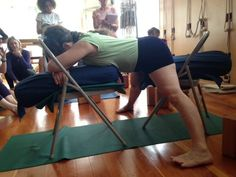 42 best chair yoga images  chair yoga yoga yoga poses