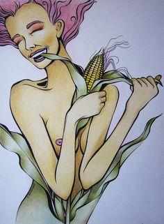 corn erotic girl pencils